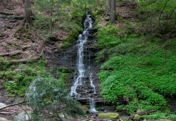 Hiking to Bridal Falls in southwestern New York