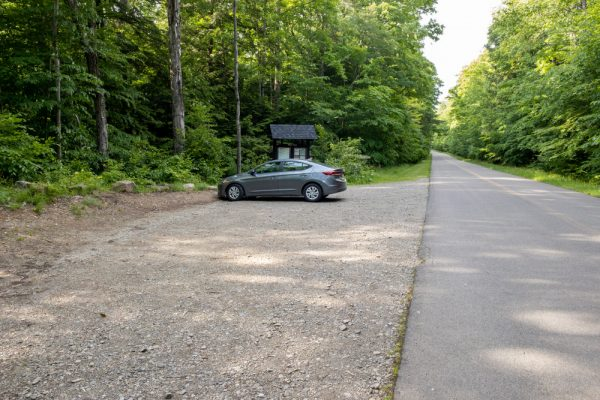 Parking for Bridal Falls in Allegany State Park