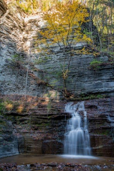 Fall in Buttermilk Falls State Park