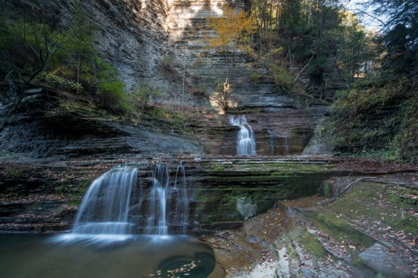 A Finger Lakes Waterfall in Buttermilk State Park.