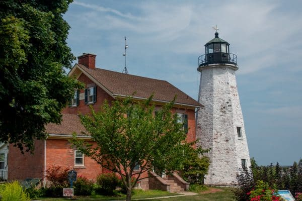 The Charlotte-Genesee Lighthouse near Rochester, New York