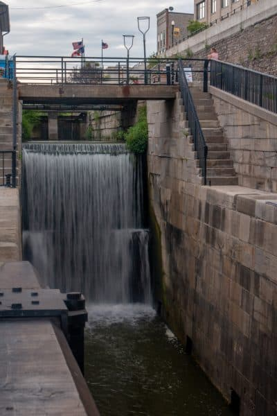 Flight of Five Locks in Lockport, NY
