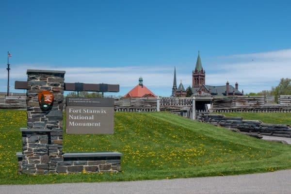 The entrance to Fort Stanwix National Monument in Rome, New York
