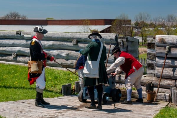 Reenactors at Fort Stanwix National Monument in Rome, New York