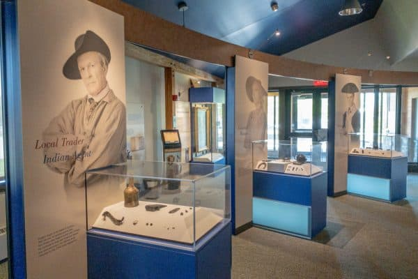 Inside the museum at Fort Stanwix National Monument in Oneida County, New York