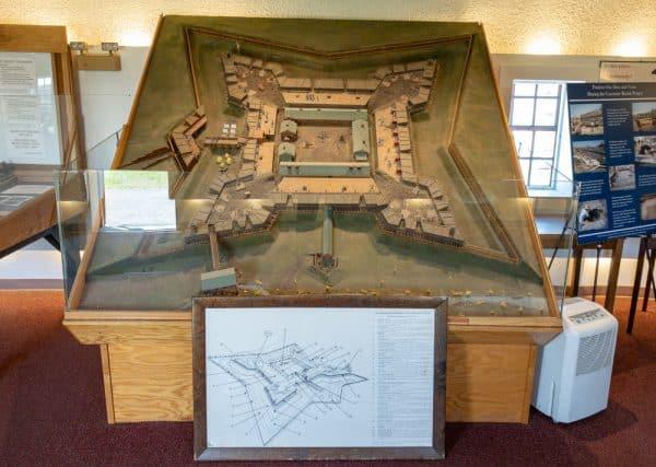 Model of Fort Stanwix in Central New York