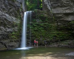 Hiking to Eagle Cliff Falls in Havana Glen Park near Watkins Glen