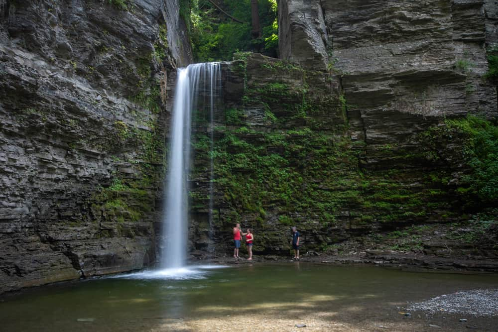 Hiking at Havana Glen near Watkins Glen New York