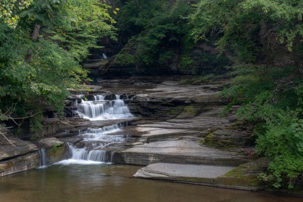 Waterfall on McClure Creek in Havana Glen Park in Schuyler County, NY