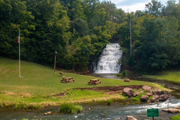 Holley Canal Falls in Orleans County, NY