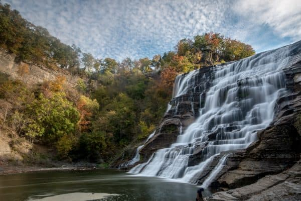 Ithaca Falls in the Finger Lakes of New York