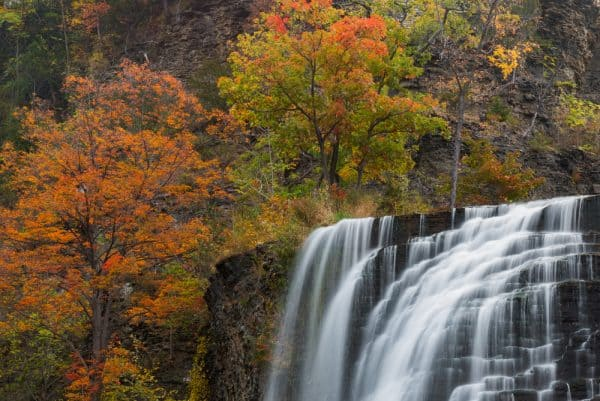 Ithaca Falls in the Autumn.