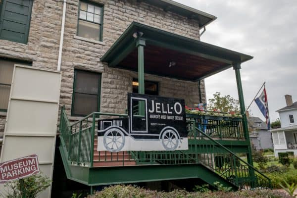 The exterior of the Jell-O Museum in LeRoy, New York.