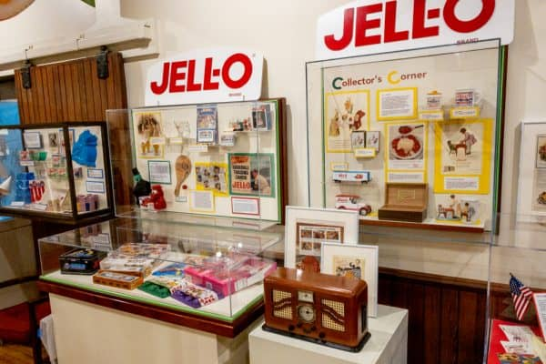 Jell-O promotional items inside the Jell-O Gallery Museum in Le Roy New York