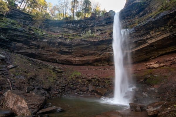 Upper Falls at Kaaterskill Falls in Greene County, NY