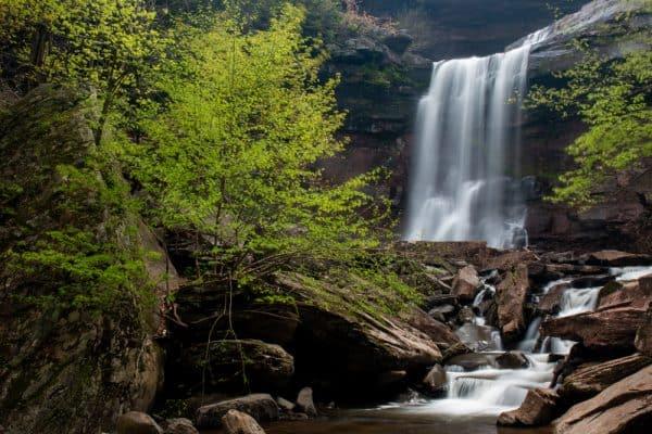 Lower drop of Kaaterskill Falls near Haines Falls, NY