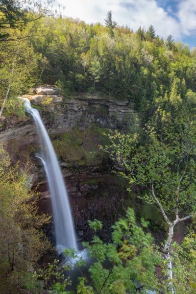 View of Kaaterskill Falls from handicapped accessible viewing area