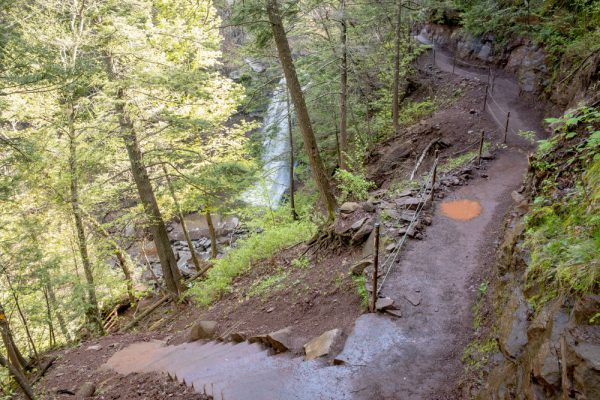 Kaaterskill Falls Trail in the Catskills of New York