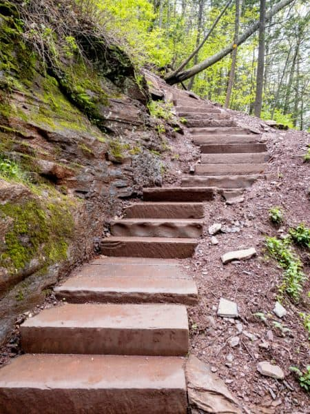 Kaaterskill Trail to the base of the falls