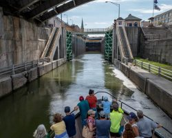Taking a Historic Lockport Locks and Erie Canal Cruise in Niagara County