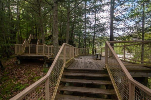 MineKill Falls Overlook in Mine Kill State Park
