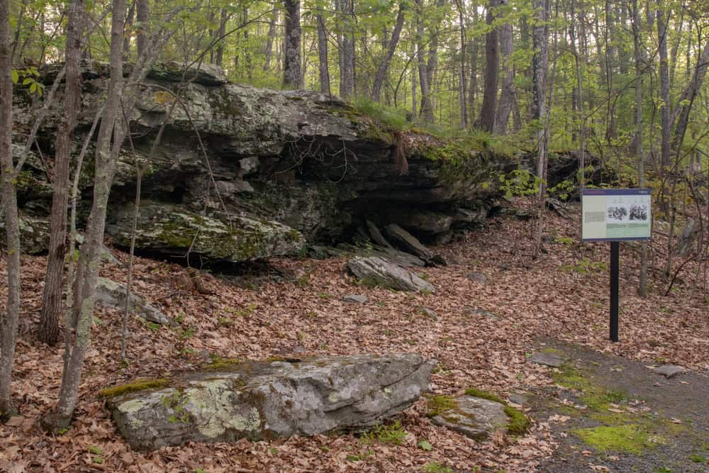 Hospital Rock at Minisink Battleground Park in Sullivan County, New York