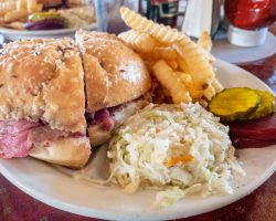 Trying Beef on Weck at Schwabl's in Buffalo