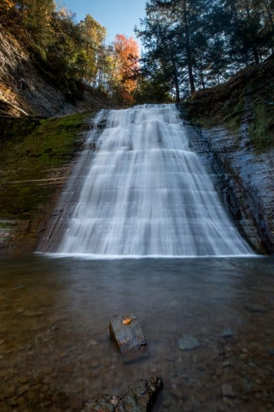 Waterfall in Stony Brook State Park near Dansville New York