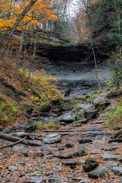 Low water at Tinkers Falls in Cortland County NY