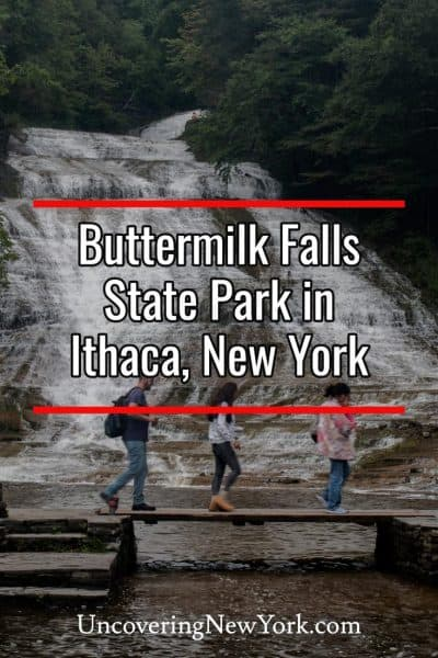 Hiking the Gorge Trail at Buttermilk Falls State Park in Ithaca, New York