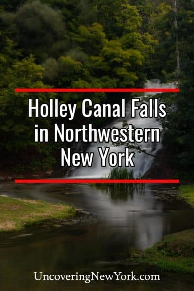 How to get to Holley Canal Falls in Orleans County, New York