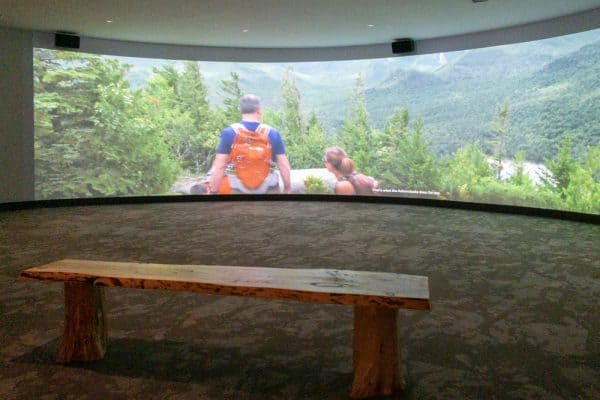 Movie at the Adirondack Experience in Blue Mountain Lake New York