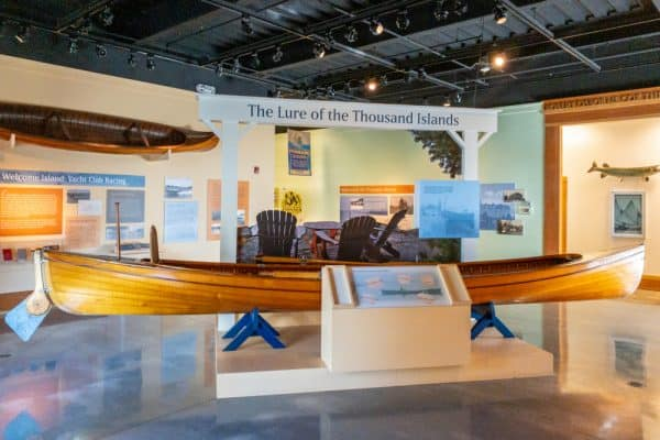 Inside the Antique Boat Museum in the Thousand Islands of New York