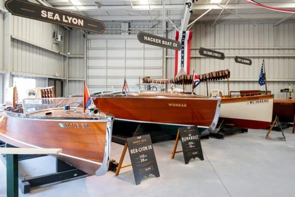 National Motor Boat Show Exhibits at the Antique Boat Museum in New York's Thousand Islands