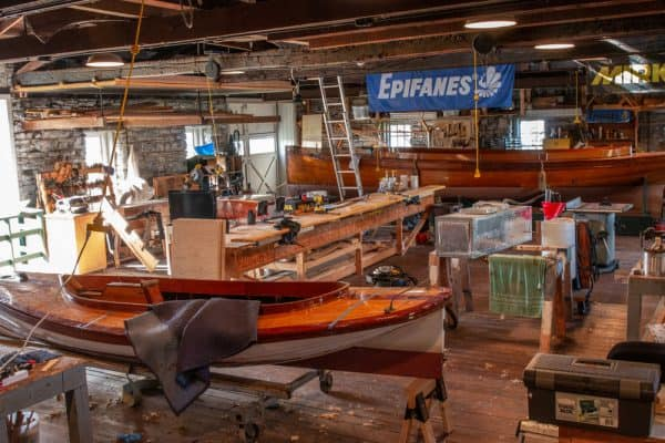 Workshop at the Antique Boat Museum in Jefferson County New York
