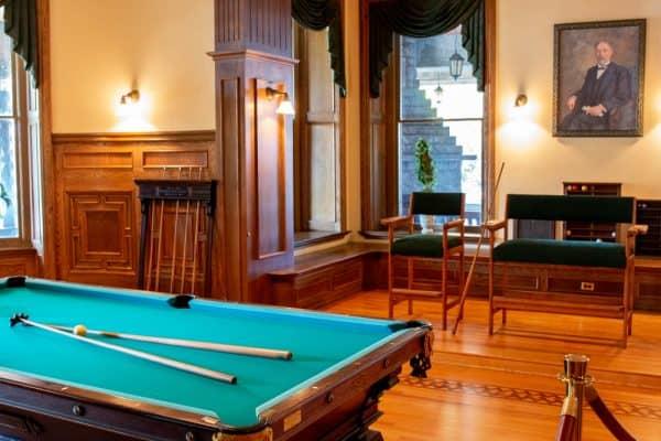 Billiards Room inside Boldt Castle in Alexandria Bay New York