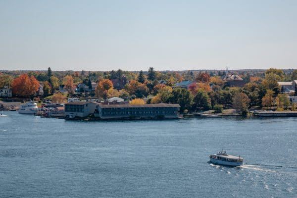 View of Alexandria Bay from Boldt Castle