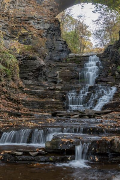 A Cascadilla Gorge waterfall in Upstate New York