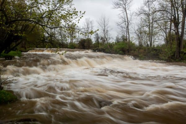 Double Drop Falls along Ontario Pathways in Phelps NY