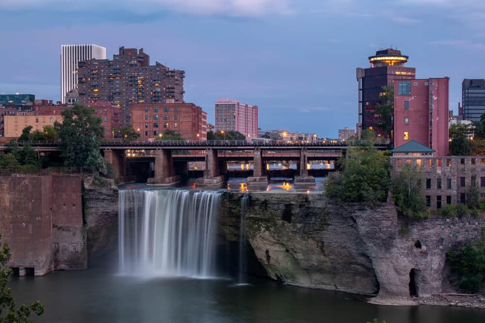 High Falls in downtown Rochester New York