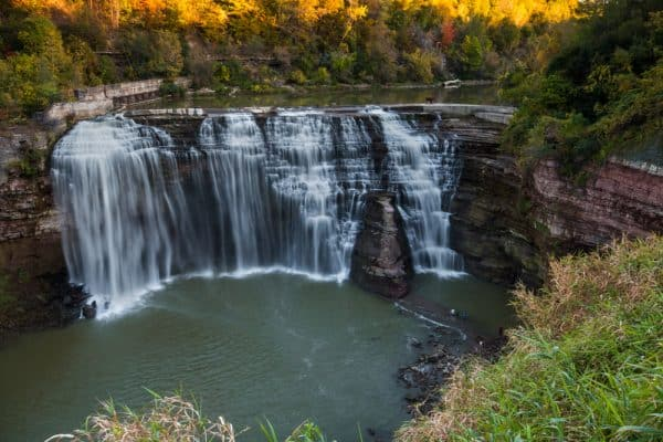 Lower Falls in Rochester NY