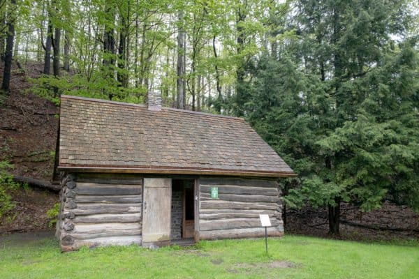 Millard Fillmore Birthplace Cabin in Fillmore Glen State Park