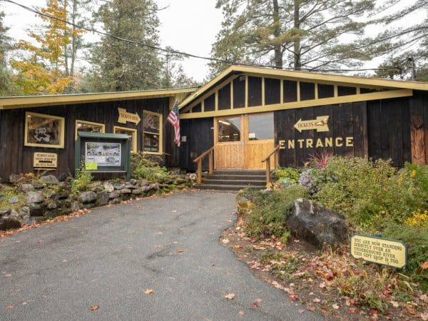The entrance to the Natural Stone Bridge and Caves in the Adirondacks