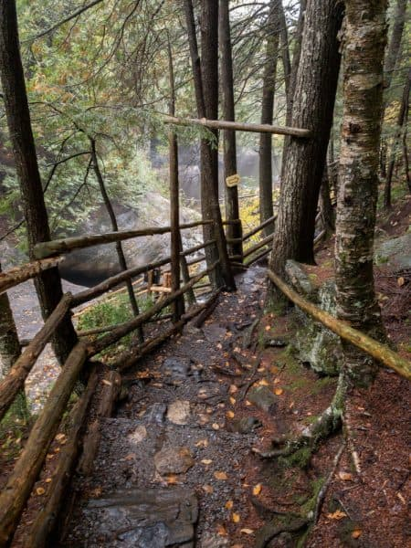 Trails at the Natural Stone Bridge and Caves in the Adirondack Park