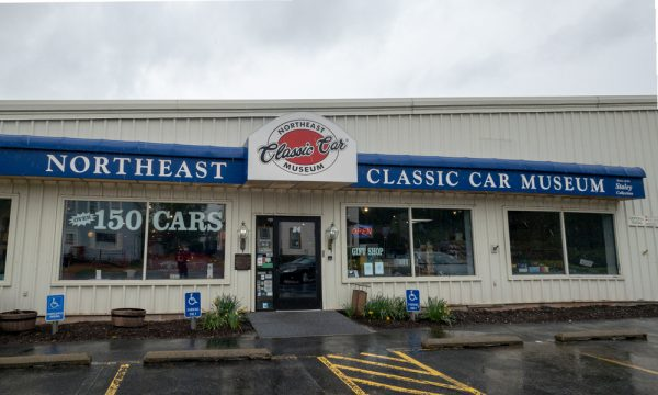 The exterior of the Northeast Classic Car Museum in Norwich New York