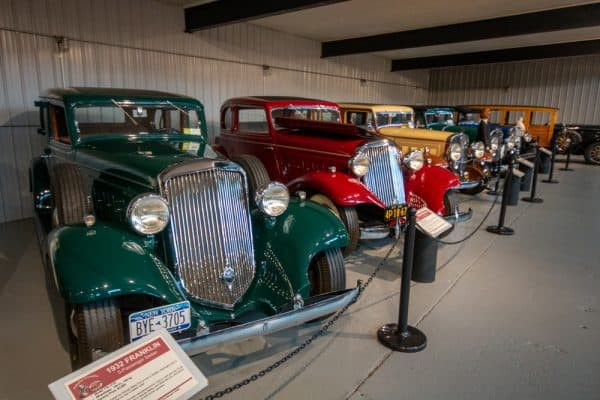 Franklin automobiles at the Northeast Classic Car Museum in Upstate NY