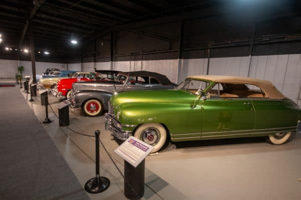 Cars on display at the Northeast Classic Car Museum in Central New York