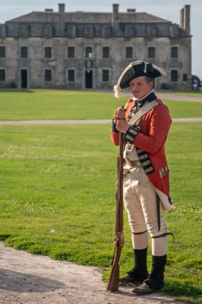Soldier demonstration at Old Fort Niagara near Buffalo New York