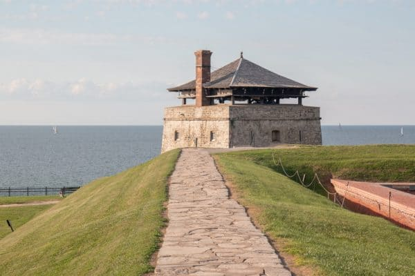 A guard tower at Old Fort Niagara in Upstate New York