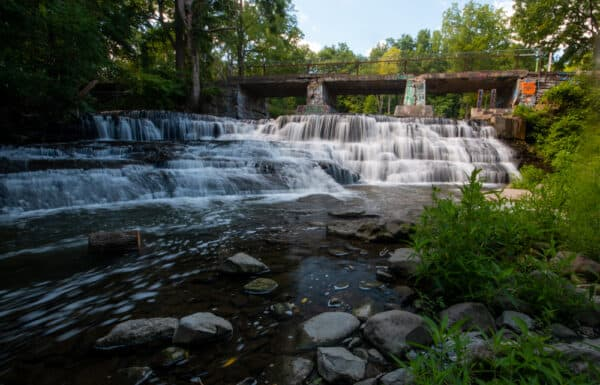 Papermill Falls is located near Avon, New York.